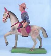 Vintage Cowboy On Horse Celluloid Toy Pistols Made Japan As Is