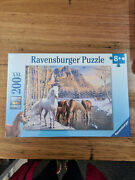 Jigsaw Puzzle Ravensburger Winter Horses 200pc Horse Snow Water
