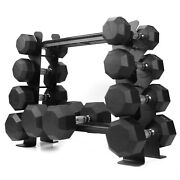 Compact Heavy Duty Dumbbell Storage Rack For Home Gym Holds Up To 400 Lbs