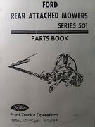 Ford 501 3-point And Side Mounted Tractor Implement Sickle Mower Parts Manual