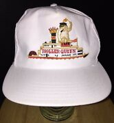 Vintage Holler Queen Steamboat Casino White Hat Cap Snapback Man W/ Cigar And Flag