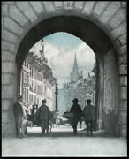 J. Dudley Johnston A Sunlit Street Berne 1908 From A Gum Print Pictorialism