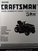 Sears Craftsman 12.5 Ic Hp 42 6-sp Lawn Tractor Owner And Parts Manual 917.255440