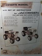 Jacobsen Super Chief Lawn Garden Tractor Owners Manual 800 1000 1200 53092 53034