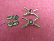 Us Army Coast Artillery Officers Collar Insignia Matched Pair Meyer