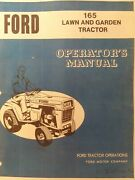 Ford Lgt 165 Lawn Garden Tractor Owners Manual Jacobsen Hydrostatic 16 H.p Mower
