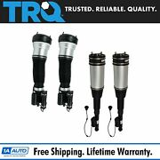 Trq Front Rear Air Strut Shock Assembly Suspension Kit Set 4pc For W220 4matic