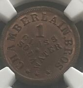 Knoxville Tennessee, Chamberlain Brothers 1866 Token ,ngc Ms64bn Rare