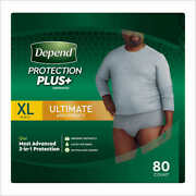 Depend Protection Plus Ultimate Underwear For Men Extra Large 80-count Cwds