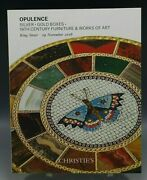 Christie's Catalog Opulence Silver Gold Boxes 19th Century Furniture 11/29/2016