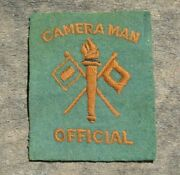 Ww2 Us Army Military Official Cameraman Signal Corps English Made Patch