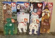 Ty Beanie Babies Ronald Mcdonald Nation Bears -complete Lot Of All 4