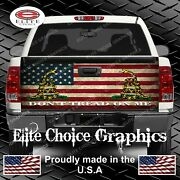 Dont Tread On Me Flag Truck Tailgate Wrap Vinyl Graphic Decal Wrap