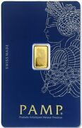 Pamp Suisse Fortuna 1 Gram .9999 Gold Bar - Sealed Assay Card - In Stock