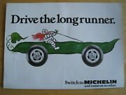 Michelin Tyres Long Runner 1983 Poster Advert Ready Frame A4 Size File O