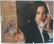 Jodie Foster Signed The Silence Of The Lambs 11x14 Bas Beckett Certified