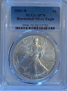 2006-w Burnished American Silver Eagle Pcgs Sp70
