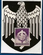 Nazi Germany Post 3rd Third Reich Sa Sword In Wreath Swastika Postage Stamp Mnh