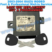 Isuzu Rodeo Lost Key Replacement And Immobilizer Programming 2 New Keys Included