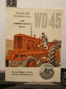 Allis Chalmers Wd-45 With Power-crater Engine Brochure