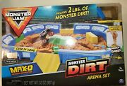 Monster Dirt Arena Set Jam Over 24 Inch Long Kinetic Sand Boys Toy Game Fun @@