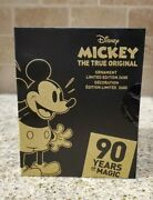 Disney Mickey Mouse The True Original Ornament Gold Collection 90th Anniversary