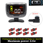 8 Parking Sensor Dual-core Double Lcd Display Automatical Car Alarm Kit Devices