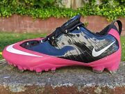 Ds Nike Zoom Air Vapor Carbon Fly Td Sz 15 Black Pink Kay Yow Nfl Football Cleat