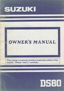 1992 Suzuki Motorcycle Ds80 Owners Manual Lit-99011-03450-03a 370
