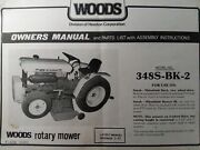 Mitsubishi Tractor Woods Rotary Mower 348 Owner And Parts Manual 348s-bk-2 Satoh