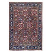 7and0398x11and039 Rust Antique Farsian Mahal Ever Wear All Over Design Rug R49644