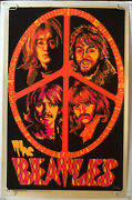 The Beatles Original Vintage Black Light Poster Psychedelic Beeghley Pin-up 60and039s