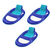 Swimways Spring Float Recliner Xl Floating Swimming Pool Lounge Chair 3 Pack
