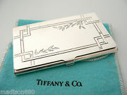 And Co Silver Nature Bamboo Leaves Business Card Case Holder Gift Pouch