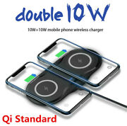 20w Qi Wireless Charger Double Fast Charging Pad For Iphone Samsung S10 S20