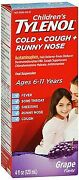 Tylenol Childrenand039s Cold + Cough + Runny Nose Oral Suspension Grape 4 Oz 12pack
