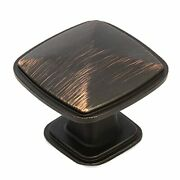 Oil Rubbed Bronze Square Kitchen Cabinet Knobs - 25 Pack