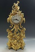 New Haven Cherubs And Dolphin Mantle Novelty Clock Vintage With Key Working