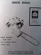 David Bradley Db Sears 6g 22 Chain Saw Gear Drive Owner And Parts Manual 917.60023