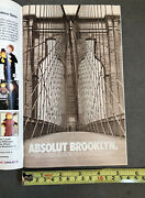 Collectible Absolut Brooklyn - Original Ad - Mint Condition