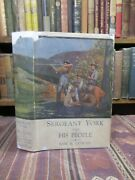 1922 Cowan Sergeant York And His People Rare First Edition In Dust Jacket Wwi Bk