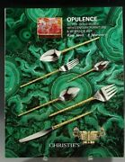 Christie's Catalog Opulence Silver Gold Boxes 19th Century Furniture 2017