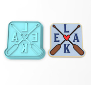 Lake Oars Cookie Cutter And Stamp | Lake Life Water Outdoor Oars