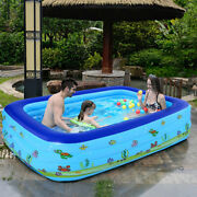 Ilh Family Swimming Pool Garden Outdoor Summer Inflatable Kids Paddling Pools