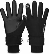 Yobenki Winter Gloves -30anddegf Touch Screen Thermal Gloves Windproof Warm Gloves M