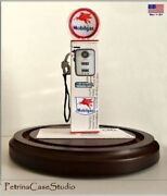 Mobil Or Texaco Gas Fuel Pump Business Card Sculpture -vintage Style
