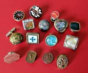 Antique And Vintage Buttons Cufflinks Collectible Set - Estate Good Condition