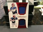 Panini Flawless Dual Worn Jersey Bills Jim Kelly Thurman Thomas 09/10 2016