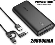 Pd 30w Power Bank 26800 High Capacity Portable Usb-c Fast Charging Battery Pack