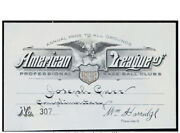 1932 American League Season Pass From The Joe Carr Find-babe Ruth Called Shot Yr